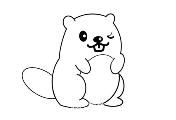 松鼠简笔画彩色可爱 松鼠怎么画悦目又简朴 中级简笔画教程-第5张