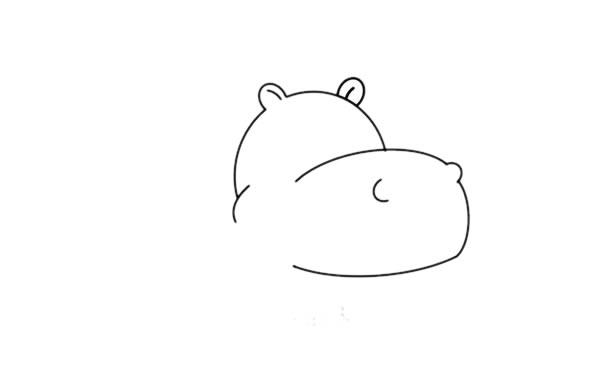 教小朋友画简单的河马简笔画 中级简笔画教程-第3张