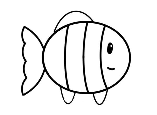 简笔画小丑鱼的画法步骤_可爱小丑鱼简笔画步骤图片 动物-第5张