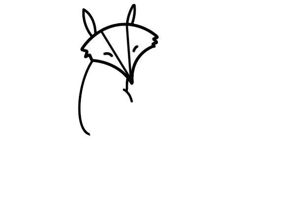 狡猾的狐狸简笔画画法步骤步骤图片 动物-第4张