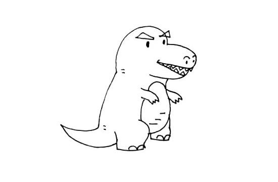 小怪兽简笔画画法步骤步骤图片 中级简笔画教程-第6张