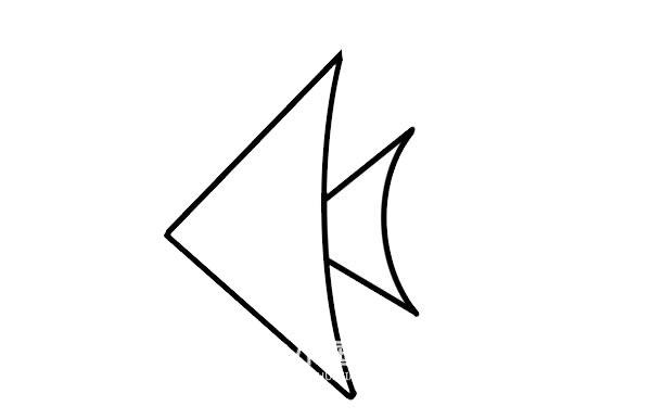 热带鱼简笔画彩色画法 初级简笔画教程-第3张