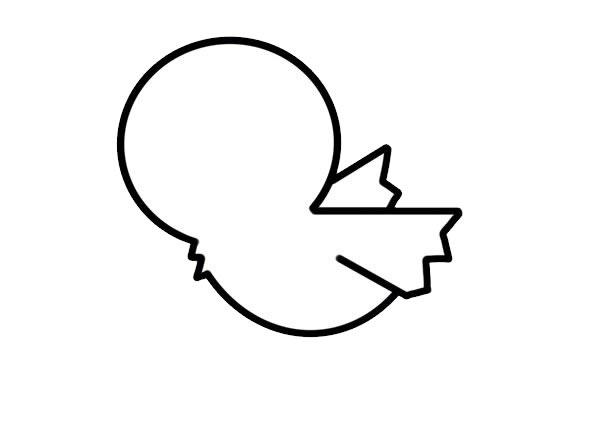 小鸡简笔画,儿童简笔画画法小鸡 中级简笔画教程-第3张