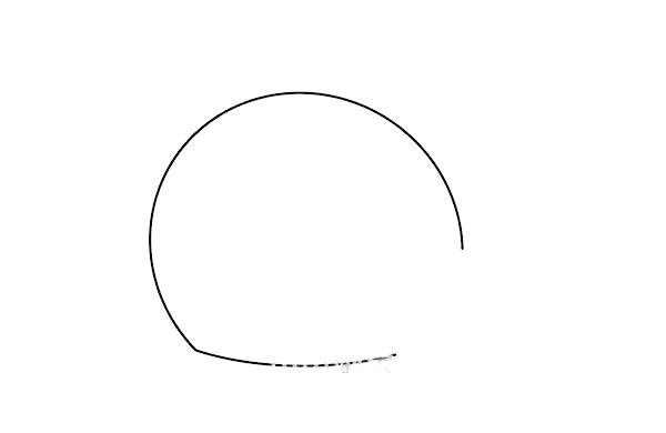 鲸鱼怎么画简朴又可爱 鲸鱼简笔画步骤图解教程 中级简笔画教程-第2张