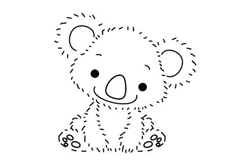 考拉简笔画简单画法 初级简笔画教程-第12张