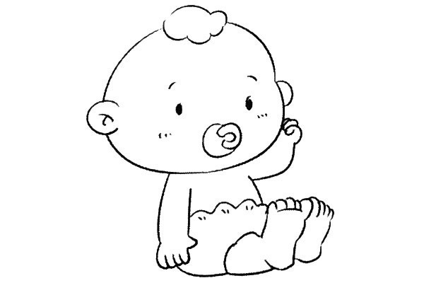 8款小婴儿简笔画大全可爱 人物-第5张