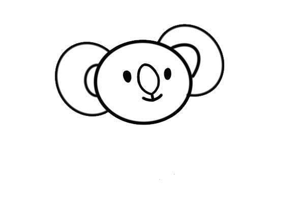 卡通考拉简笔画画法步骤步骤图片 中级简笔画教程-第4张