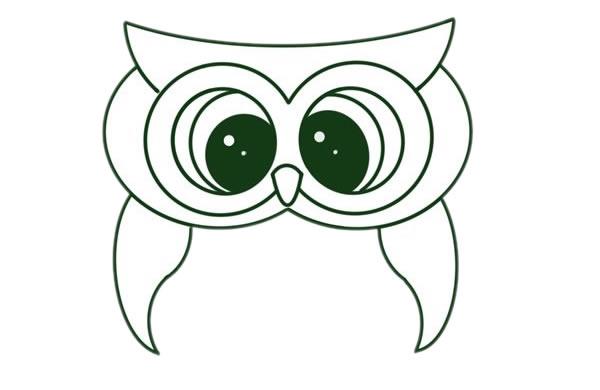 猫头鹰怎么画,儿童简笔画猫头鹰 动物-第5张