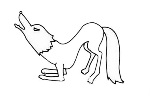 狼的简笔画 凶残 霸气 狼的超简单画法步骤 中级简笔画教程-第1张