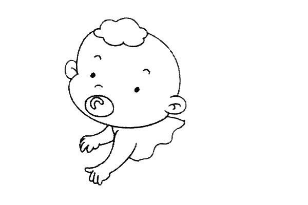简单九步学画小婴儿简笔画 中级简笔画教程-第7张