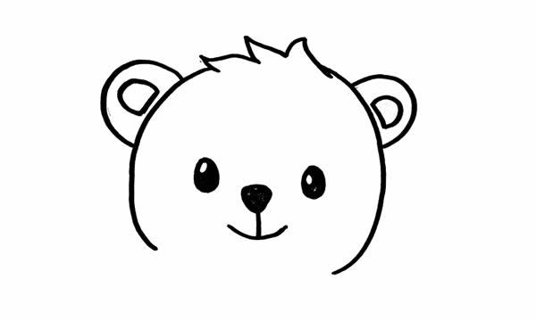 可爱的小熊简笔画彩色画法 中级简笔画教程-第2张