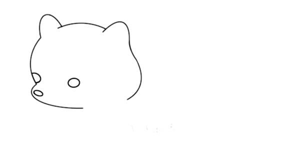 简单的白狐怎么画,可爱的白狐简笔画画法 中级简笔画教程-第4张