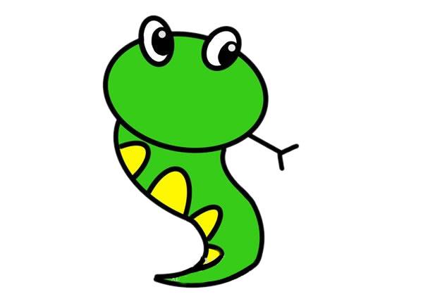 卡通蛇简笔画画法步骤步骤图片 动物-第1张