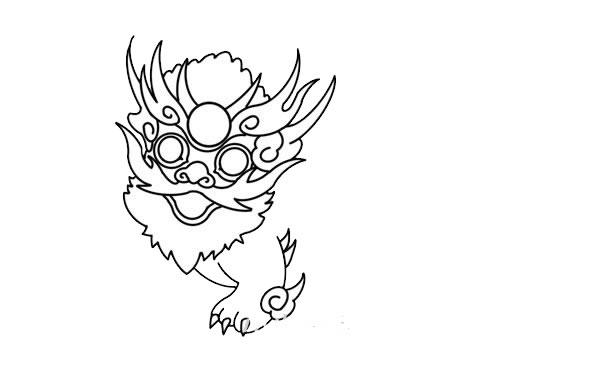 年兽简笔画,年兽怎么画 动物-第6张
