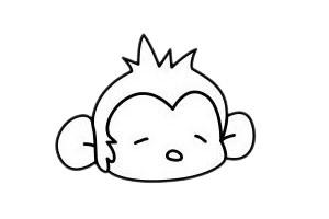 简单好看的猴子简笔画 中级简笔画教程-第5张