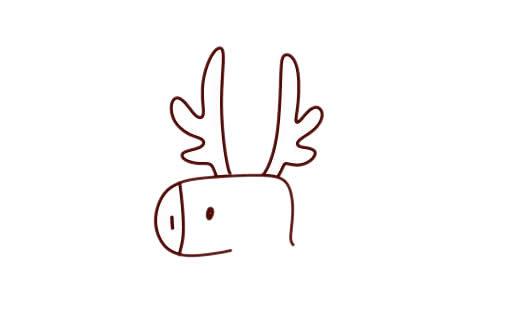 圣诞麋鹿车简笔画画法 动物-第2张