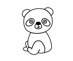 怎么画熊猫简单画法 初级简笔画教程-第6张