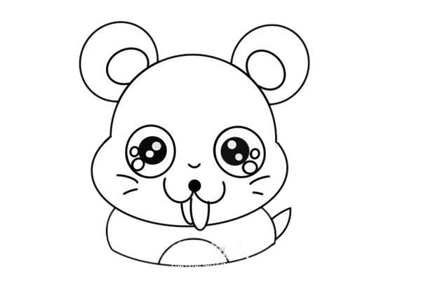 卡通老鼠简笔画,q版老鼠儿童简笔画 中级简笔画教程-第5张