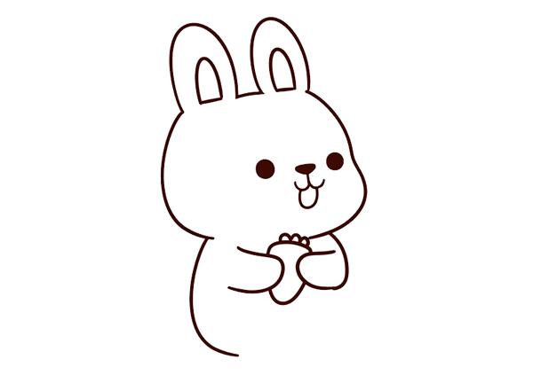 兔子怎么画简单漂亮 中级简笔画教程-第5张