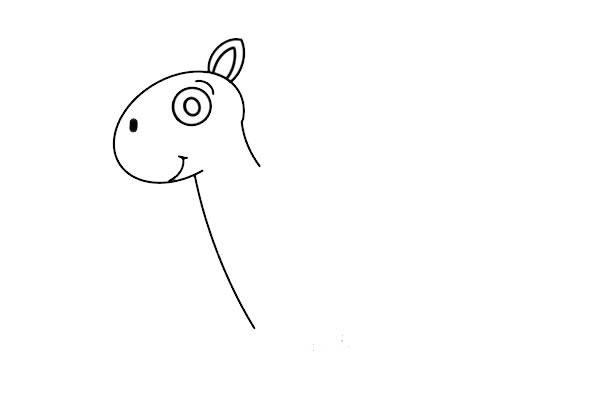 卡通小马简笔画图片彩色画法 中级简笔画教程-第3张