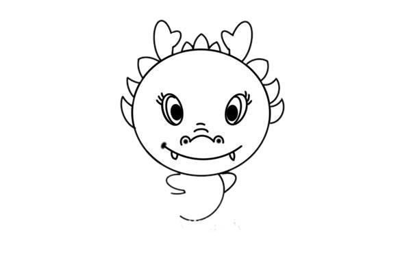 中国龙简笔画图片 初级简笔画教程-第5张