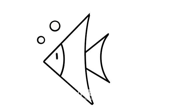 热带鱼简笔画彩色画法 初级简笔画教程-第4张