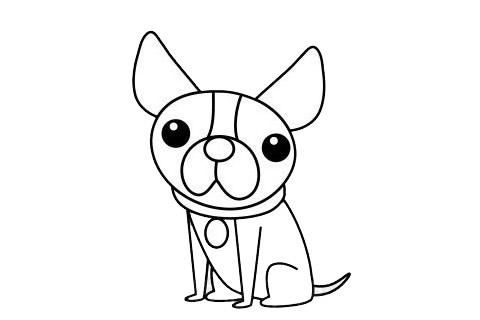 一步一步学画小狗简笔画 初级简笔画教程-第8张
