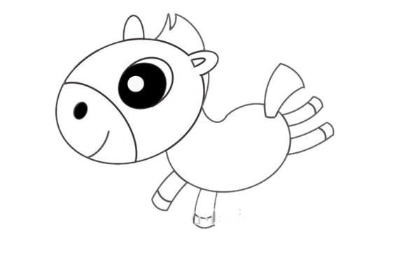小马简笔画画法,儿童简笔画教程 初级简笔画教程-第6张