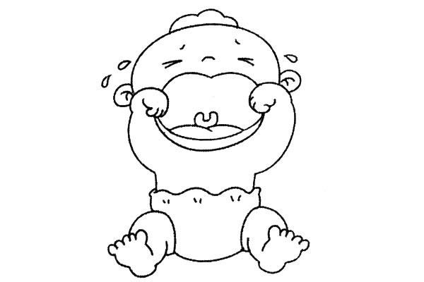 8款小婴儿简笔画大全可爱 人物-第6张
