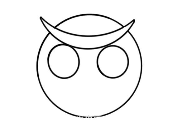 少儿简笔画猫头鹰画法 中级简笔画教程-第3张