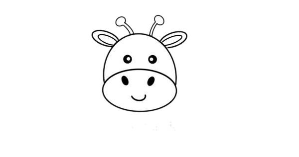 彩色长颈鹿儿童简笔画画法 中级简笔画教程-第3张