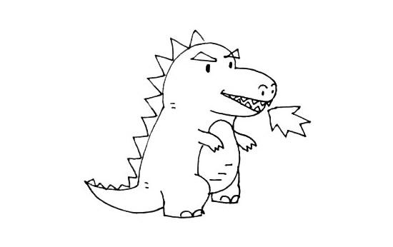小怪兽简笔画画法步骤步骤图片 中级简笔画教程-第7张
