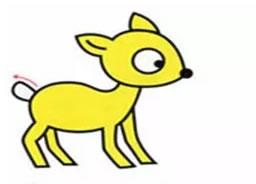 梅花鹿简笔画步骤画法步骤图片大全 动物-第5张
