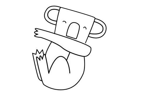 考拉简笔画简单画法 初级简笔画教程-第11张
