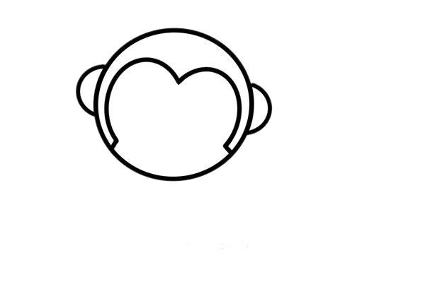 小猴子怎么画_超萌小猴子简笔画画法步骤步骤图片 动物-第4张