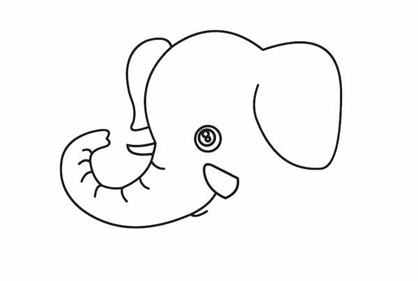 大象怎么画最简单 卡通大象简笔画步骤教程 动物-第3张
