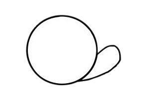 可爱蜗牛简笔画步骤图片大全 初级简笔画教程-第4张