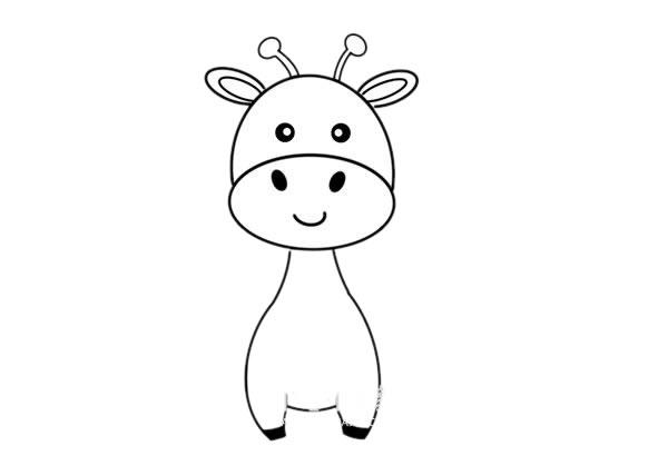 彩色长颈鹿儿童简笔画画法 中级简笔画教程-第4张