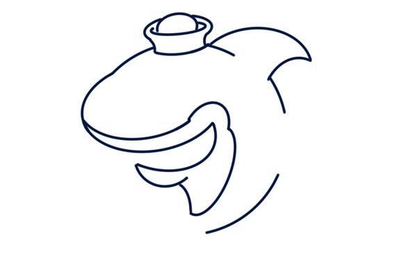 q版鲨鱼简笔画画法教程 中级简笔画教程-第4张