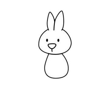 小白兔最简单的画法教程 初级简笔画教程-第6张