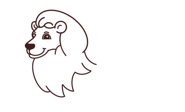 狮子王简笔画彩色图片 中级简笔画教程-第4张