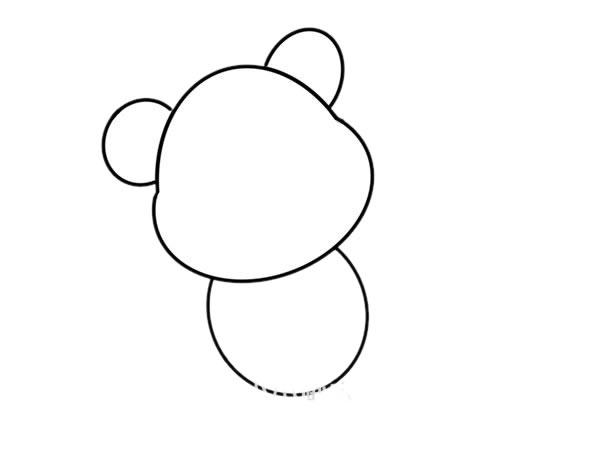 玩具小熊怎么画,小熊简笔画 中级简笔画教程-第3张