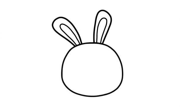 小兔子吃胡萝卜简笔画 中级简笔画教程-第3张