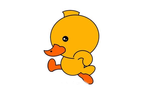 简单可爱的小鸭子简笔画绘画教程 初级简笔画教程-第1张