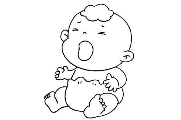 8款小婴儿简笔画大全可爱 人物-第8张