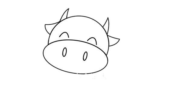 卡通奶牛简笔画 奶牛简笔画步骤图片教程 中级简笔画教程-第3张