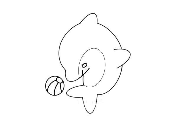 海豚怎么画又简朴又漂亮又可爱 海豚简笔画步骤图解教程 中级简笔画教程-第6张