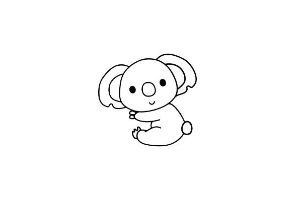 考拉简笔画简单画法 初级简笔画教程-第7张