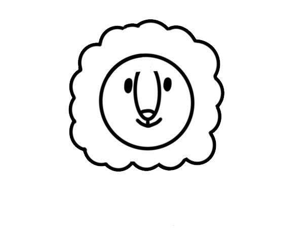 可爱雄狮简笔画彩色画法 中级简笔画教程-第3张