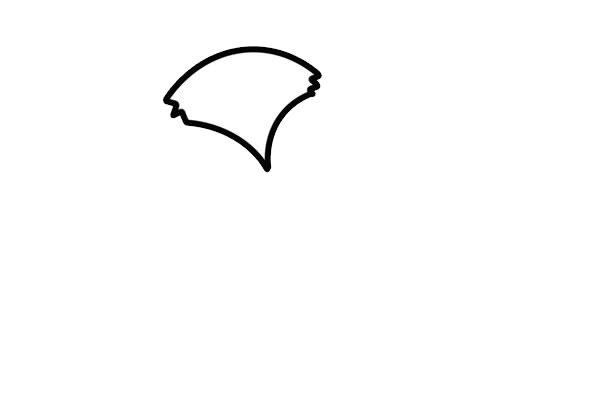 狡猾的狐狸简笔画画法步骤步骤图片 动物-第2张